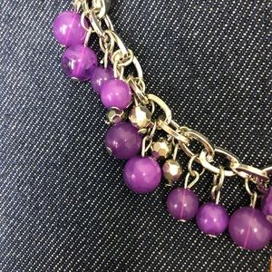 🔹5/$20 PAPARAZZI NWT Purple and Silver Necklace